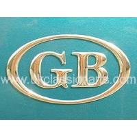 China Accessories Trim and Brightwork GB BADGE OVAL wholesale