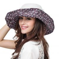 China lethmik Summer Hats Floppy Sun Hat Cotton Beach Hat Ladies Wide Brimmed Hat UV protection wholesale