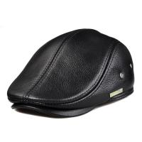 China lethmik Flat Cabbie Cap Genuine Leather Vintage Newsboy Ivy Hat Driving wholesale