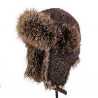 China lethmik Winter Hats Faux Fur Hunting Trapper Hat Unisex Warm Aviator Bomber Hat on sale