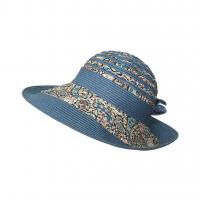 China lethmik Sun Hat Ladies Summer Wide Brim Hats Straw Floppy Beach Bucket Hats wholesale
