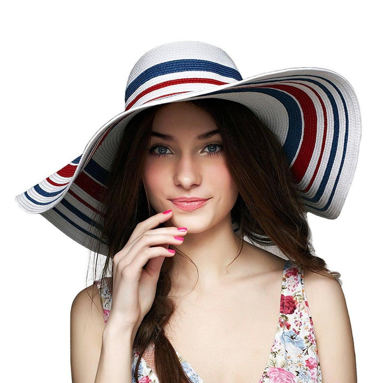 China lethmik Floppy Hat Wide Brim Hats Straw Beach Sun Hat Rainbow Womens Summer Hats wholesale