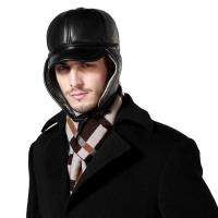 Buy cheap lethmik Winter Trapper Hat Genuine Leather Trooper Hat With Visor from wholesalers