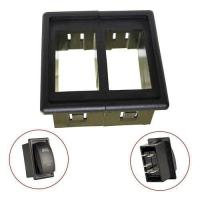 China 2 pcs rocker switch holder panel housing kit fireproof ABS plastic on sale