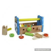 China Best design children intelligence toys wooden boys tool box W03D027 wholesale