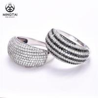 925 women's silver rings with Cubic zirconia , couple ring for girls