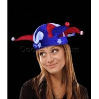 China LED Jester Hat - Red-White-Blue on sale