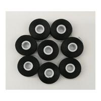 China Black Bobbin sideless Size L 70D/2 Polyester thread for Embroidery 144pcs in a case wholesale