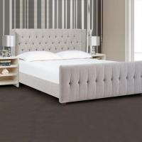 China High Quality Modern King Bed Frame Fabric Bed/upholstered King Size Button Tufting on sale