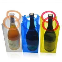 China PVC Wine Cooling Ice Bag Beer Holder Gift Bags For Outdoor Party wholesale