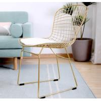 China Chair Black Gold Metal Chair Frames Popular Metal Wire Chair on sale