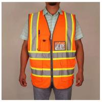 China High Visibility Reflective Safety Vest With Pockets And Zipper on sale