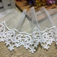 China 15 cm Width 100% Cotton High Embroidered Density Tulle Lace Trim DC350# wholesale
