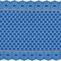 China 20 cm Width Border Blue Net Stretch Lace for Making Lingerie JD001R# wholesale