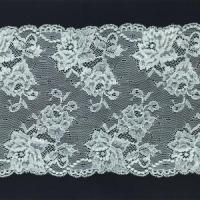 China 20cm Width Scalloped Border Lace For Dress Elastic Nylon Spandex Lace Trim C005# wholesale