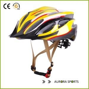 Quality white glossy finished pc shell bicycle well ventilation helmet AU-BM06 for sale