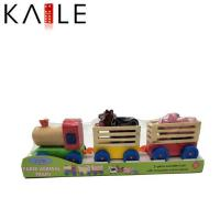 China toy series Intelligence Wooden Children Educational Toys Farm Animals Train Set on sale