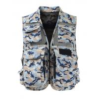 China Men's Graphic Fishing Vest on sale