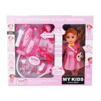 China Children doctor set with doll toys on sale