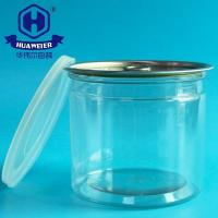 China 21OZ 610ML 401# Easy Open Ends PET Plastic Transparent Tube Cans For Food Canned on sale
