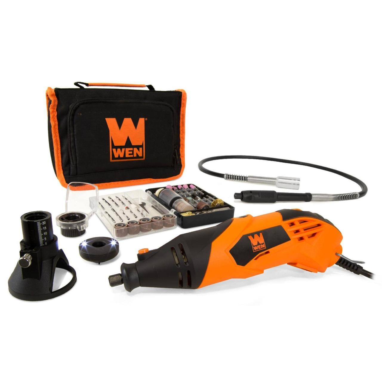 China WEN 23114 1.4-Amp High-Powered Variable Speed Rotary Tool with Cutting Guide, LED Collar on sale