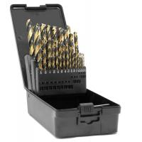 China WEN DB292G 29-Piece Fully Ground Black Gold HSS Jobber Drill Bit Set with Carrying Case wholesale