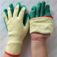 China Red polycotton liner black crinkle latex coated work gloves wholesale