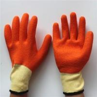 China Smooth finish latex rubber coated work gloves on sale