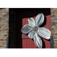 China Brushed Finishing Outdoor Metal Sculpture Art Flower Sculptures For Public Decoration wholesale