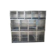 China KA-505-201 Stainless Steel Flat Packing Professional Modular Dog Kennel With Solid Walls wholesale