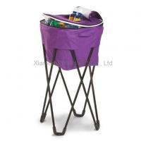 China Picnic Folding Cooler Bag With Metal Stand wholesale