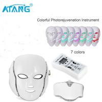 China ATANG New 7 Color LED Facial Neck Mask Micro-current LED Photon Mask Remove Wrinkle Acne Skin wholesale