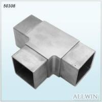 Stainless Steel Square Tee Inline Flush Tube Connector