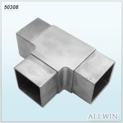 Quality Stainless Steel Square Tee Inline Flush Tube Connector for sale