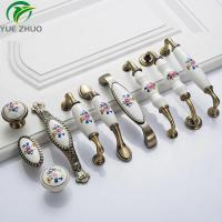 Buy cheap Good Quality Flower shape design ceramic Furniture Accessories Drawer Handles from wholesalers