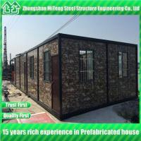 Buy cheap Steel structure Detachable container house with cultural stone sandwich panel from wholesalers