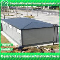 Buy cheap Four slope luxury prefab house with metal engraving board and asphalt tile from wholesalers