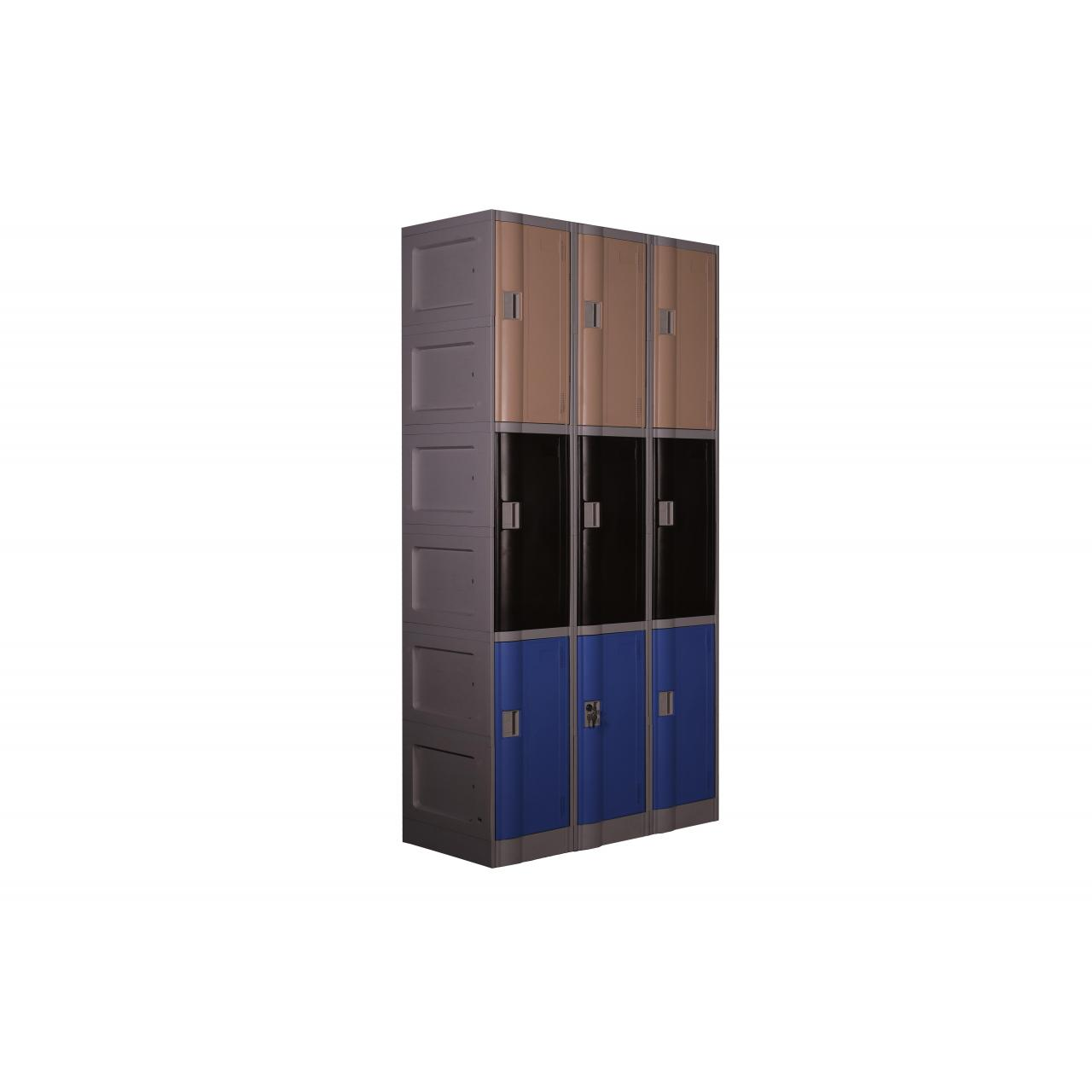 Triple Tiers ABS Plastic Locker (LE32-3)