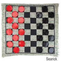 Buy cheap Brybelly Giant 3-in-1 Checkers and Mega Tic Tac Toe with Reversible Rug from wholesalers