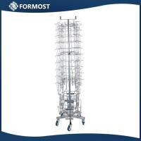 China 88lattice capacity Metal wire roating Greeting card display racks / Moveable postcard display stands wholesale