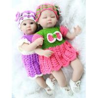 China New Fashion 17 Inch Twins Silicone Reborn Doll For Childs Play House Toys Gift Realistic Soft Toys wholesale