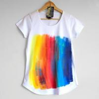 China Clothes Teen Women Tshirt Rainbow Women'S Short-Sleeved T-Shirts on sale