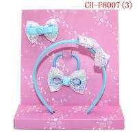 China CH-F8007 Girl princess crystal hair clip hair hoop hair accessories set promotional gifts wholesale