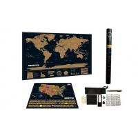 China Map Deluxe Black World Map With USA Map wholesale