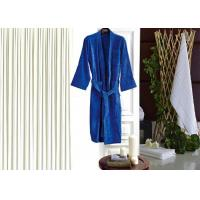 China Colored Luxury Hotel Patterned Toweling Bath Robe , Womens Luxury Dressing Gown wholesale