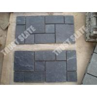 China French Pattern Paver Mat, Montauk Black Paver Stone on sale