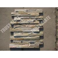 China golden quartzite veneer stone panels on sale
