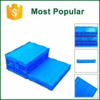 Eco-Friendly Recyclable Electronic Product Foldable Crate With Lid