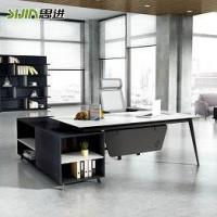 Buy cheap Executive desk MD-BT2302 black and white office manager desk from wholesalers