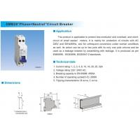 """Buy cheap Universal circuit breaker SMB28Phase+Neutral""""Circuit Breaker from wholesalers"""